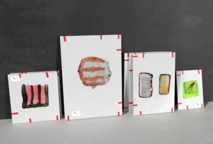 art watercolor logos ready for an exhibition