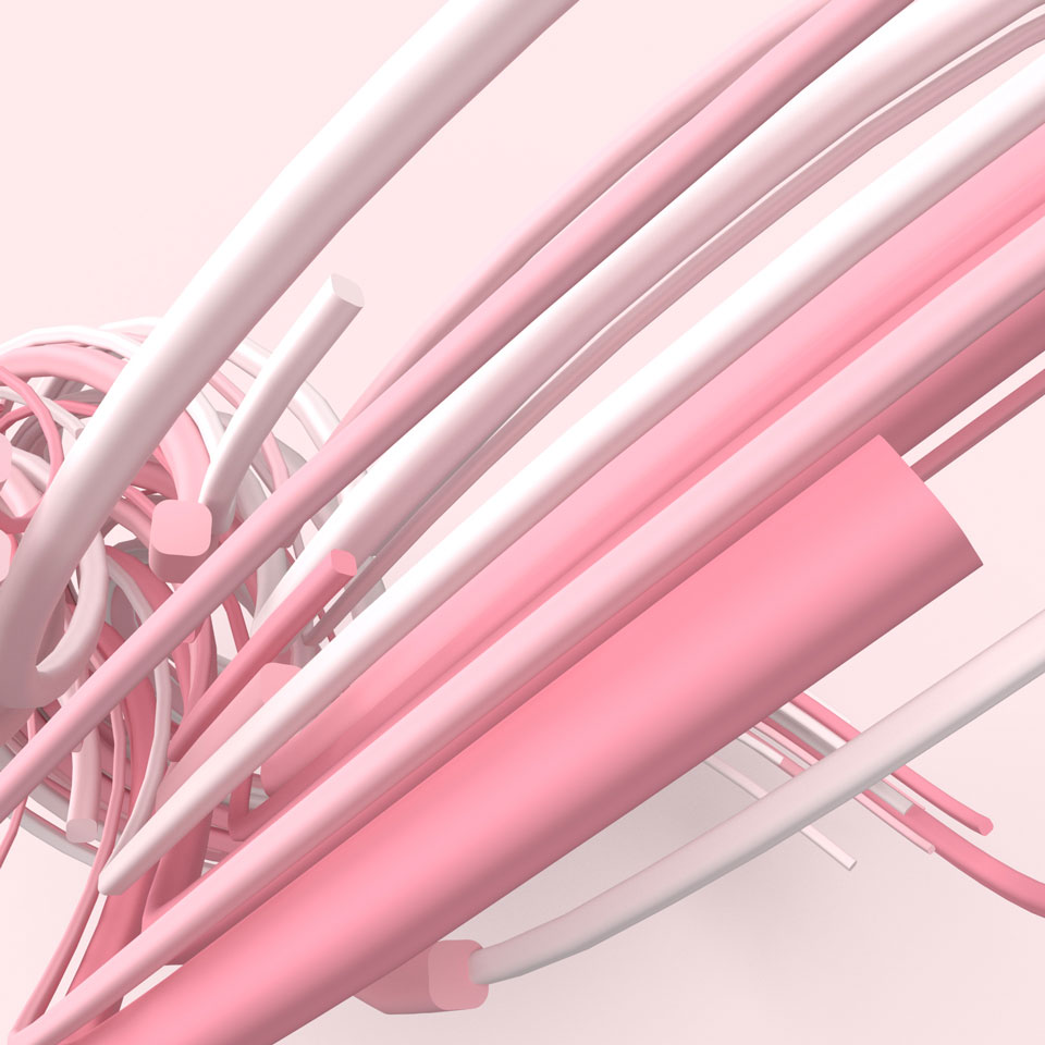 pink random lines in wave form close-up abstract background image