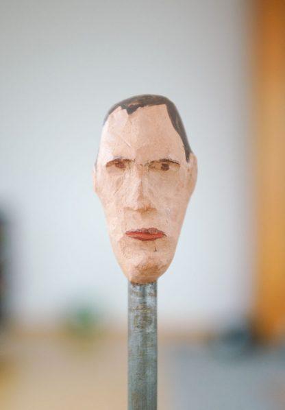 the doubter, sculpture series, example of an art image, closeup