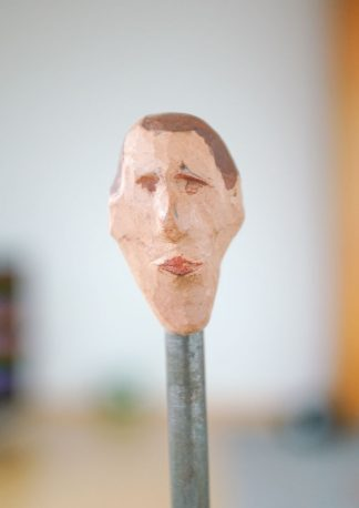 the eccentric, sculpture series, example of an authentic image, closeup