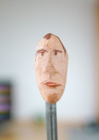 the latecomer, sculpture series, example of an art image, closeup