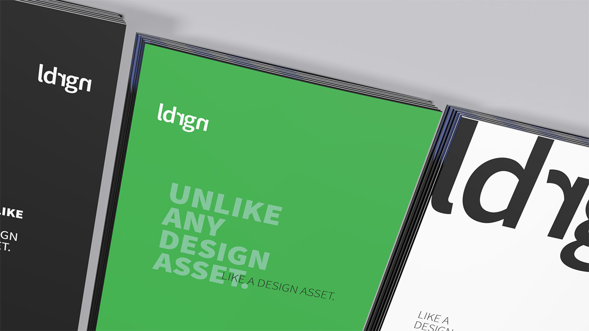 examples of brochures without photos in terms of graphical system