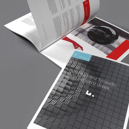 reduced InDesign business brochure layout, print ready