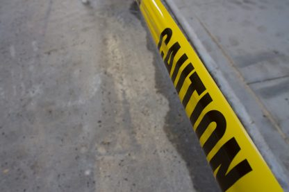 yellow caution tape banner