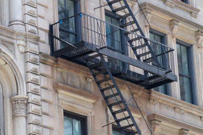 beautiful facade with black fire escape